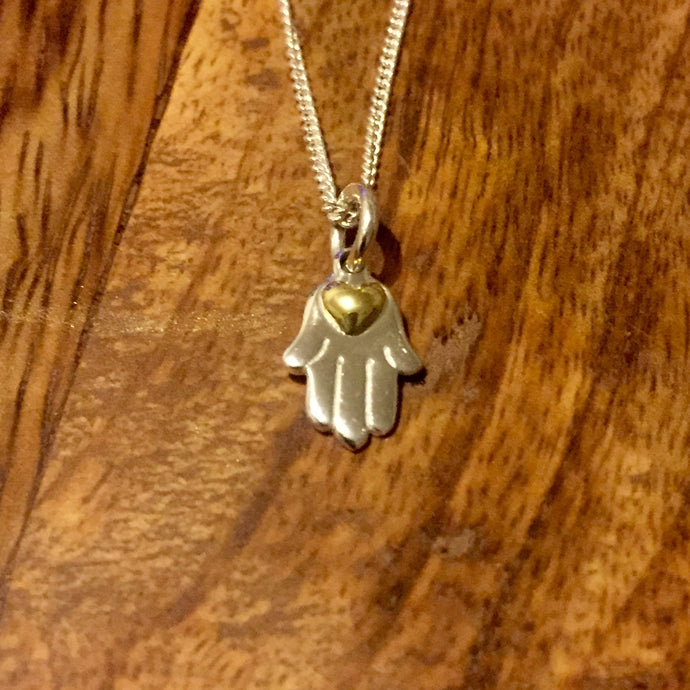 Palas Necklace - Hamsa Hands