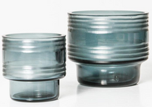 Load image into Gallery viewer, Leia Glass Votives - Pewter Blue