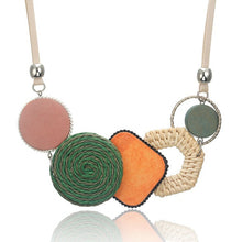 Load image into Gallery viewer, Bamboo Weaving Statement Necklace