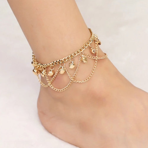 Grill Tassel Chain Bells Anklet