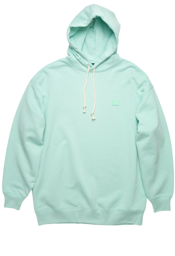 ACNE Face Hoodie Mint Green