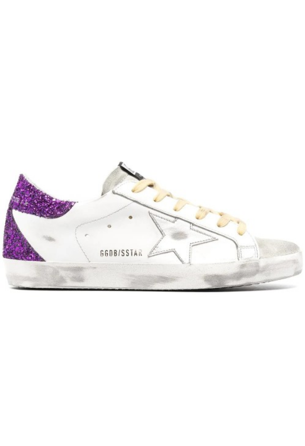 Superstar Purple Gliter Sneakers