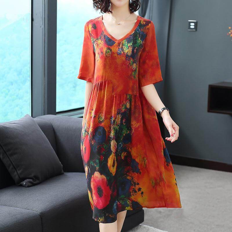 Japanese luxury silk dress