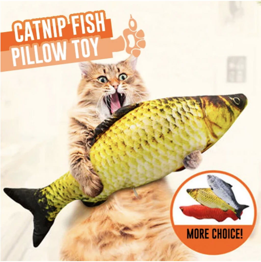 50% OFF Today Cat Kicker Fish Toy