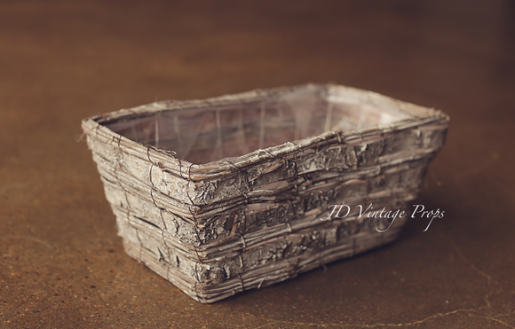 Woven Birchwood Basket - Rectangle