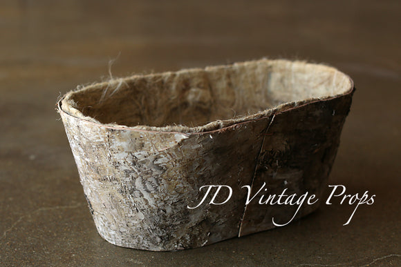 Oval Birch Bucket