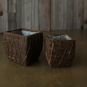 Dark Willow Square Basket