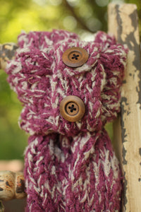 Button Wrap - Maroon