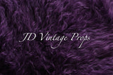 Curly Sheepskin - Plum