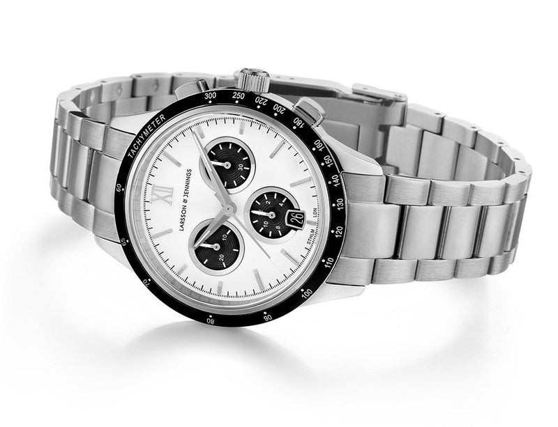Rally Vasa Link 39mm Silver Black White