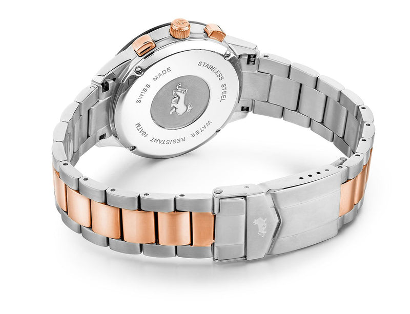 Rally Vasa Link 38mm Silver Black Rose Gold