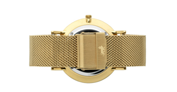16mm Gold Milanese Strap