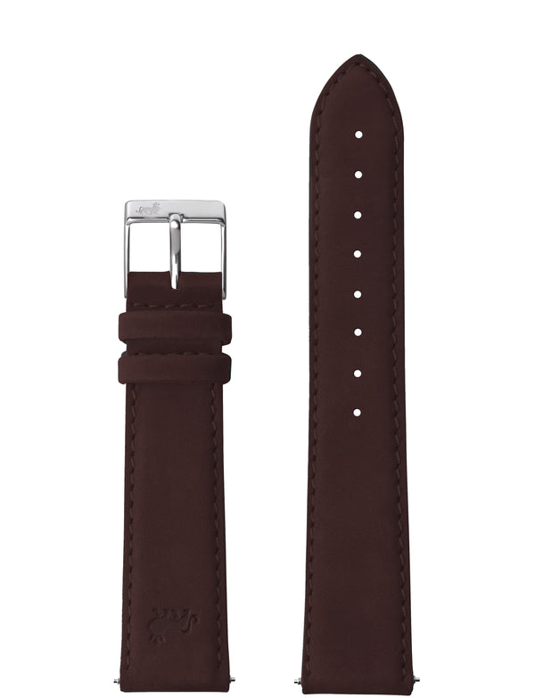 18mm Brown Strap with Silver Buckle