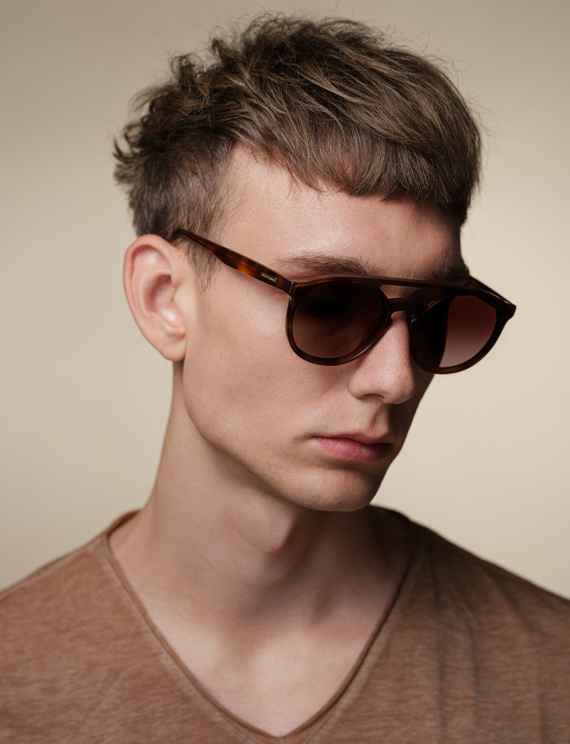 Dark Havana Aviator Sunglasses
