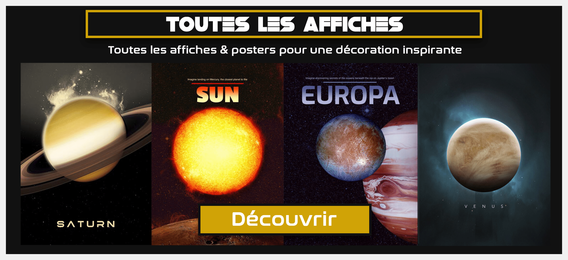 collection poster vintage espace