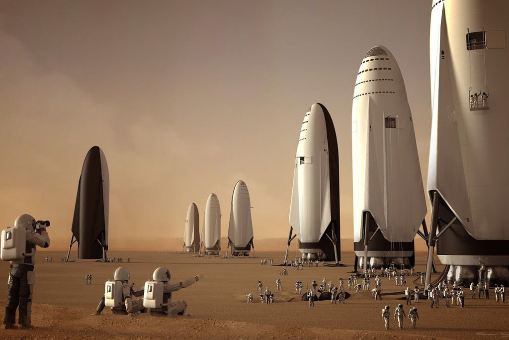spacex projet mars