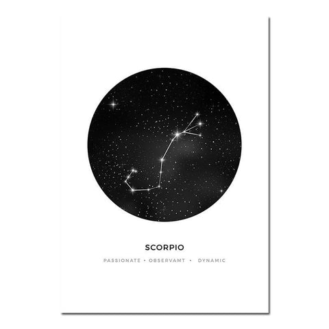 affiche constellation scorpion