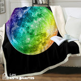 couverture lune multicolore