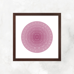 Mauve Ombre: Ancestry Circle Chart