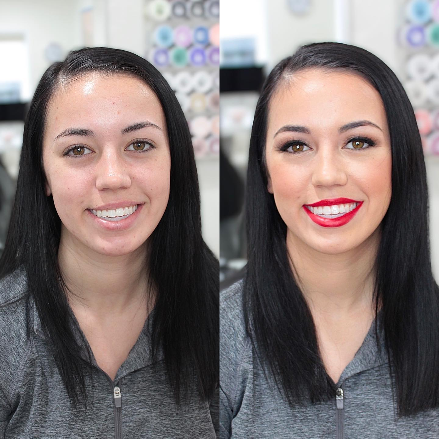 Single Makeup Application with Lashes