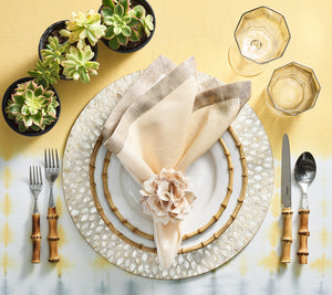 Duo Dye Tablecloth in Yellow & Gray