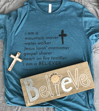 Load image into Gallery viewer, I am a Believer Christian T-Shirt
