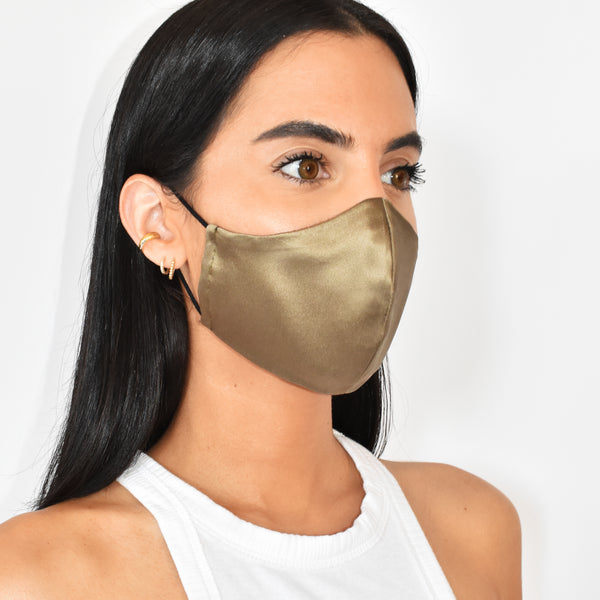 Silk Mask - Bronze - face mask - ShopStyleguise