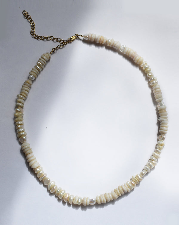 Pearl Puka Choker - Necklaces - ShopStyleguise