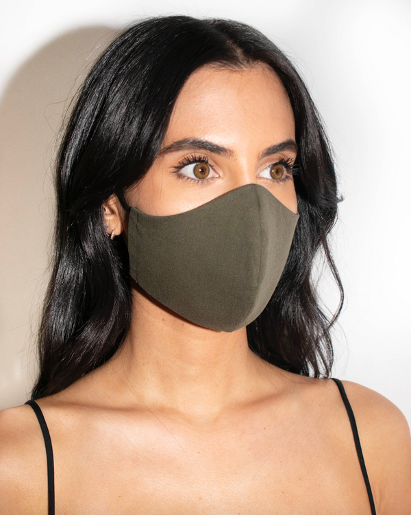 Face Mask - Olive Green - face mask - ShopStyleguise