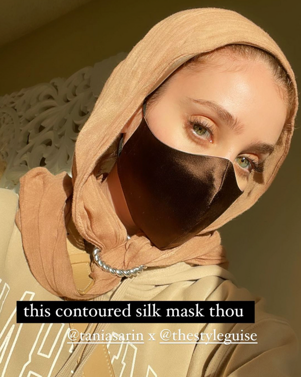 Silk Mask - Espresso - face mask - ShopStyleguise