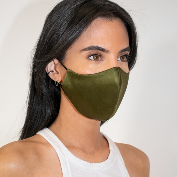 Silk Mask - Olive Green - face mask - ShopStyleguise