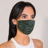 Pleated Mask - Forest Green - face mask - ShopStyleguise