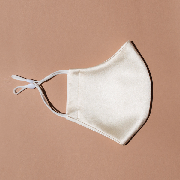 Silk Face Mask - Off White - face mask - ShopStyleguise