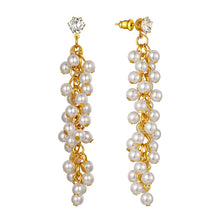 Load image into Gallery viewer, Pearl Drop Earrings,Wedding Earrings Bridal Earrings Hypoallergenic Pearl Dangle Earrings