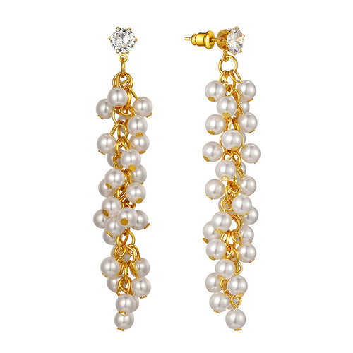 Pearl Drop Earrings,Wedding Earrings Bridal Earrings Hypoallergenic Pearl Dangle Earrings