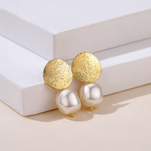 Load image into Gallery viewer,  Hypoallergenic Pearl Drop Dangle Earrings Wedding Earrings Bridal Earrings