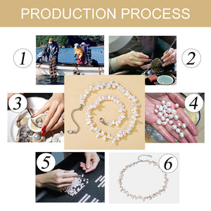 5-7 mm Baroque Pearl Necklace for Women White/Pink Pearl Necklace