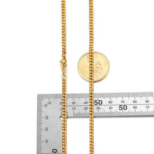 Load image into Gallery viewer, 3mm Gold Curb Men Flat Cuban Link Chain Necklace