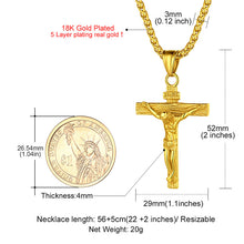 Load image into Gallery viewer, Stainless Steel/18K Gold/Rose Gold Christian Jewelry Crucifix Necklace