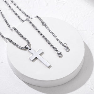 Stainless Steel/18K Gold/Rose Gold Christian Jewelry Cross Pendant Necklace