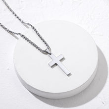 Load image into Gallery viewer, Stainless Steel/18K Gold/Rose Gold Christian Jewelry Cross Pendant Necklace