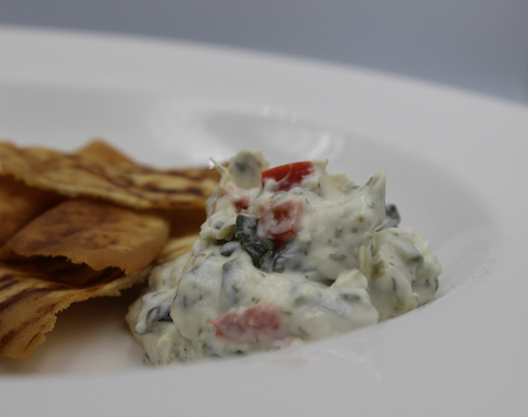 Vegan Spinach Artichoke Ranch Dip