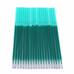 12/20Pc/Set Office Gel Pen Erasable Refill Rod Erasable Pen Washable Handle 0.5mm Blue Black Green Ink School Writing Stationery