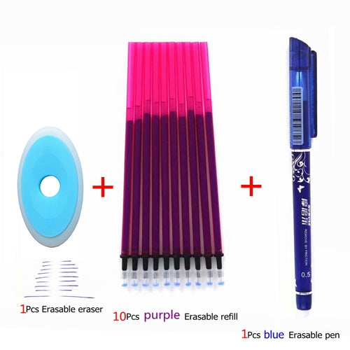 3/6/12pcs/Set Erasable Pen Washable Handle Blue/Black/Red 0.5mm Pens Refill Rod for Office Supplies Student Exam Spare