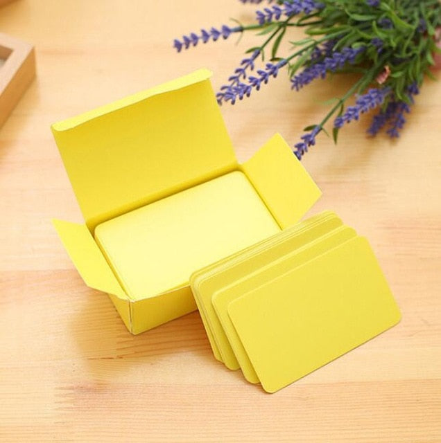1box Blank Handwritten Paper Message Card Business Cards for Memo Wedding Party Greeting Cards School Stationery