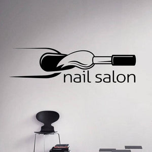 Nail Salon Wall Decal Manicure Vinyl Wall Sticker Home Decor Beauty Salon Mural Interior Office Window Wall Art Decor DIY ZW427