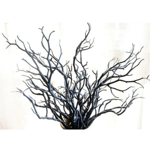 3pcs 35cm Dry Artificial Fake Foliage Plant Tree Branch For Wedding Home Church Office Furniture Decoration