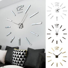 Load image into Gallery viewer, Antique Mini DIY Mirror Surface Clock Sticker Mute Wall Clock 3D Wall Watch Living Room Home Office Decor Christmas Gift