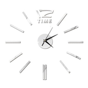 Antique Mini DIY Mirror Surface Clock Sticker Mute Wall Clock 3D Wall Watch Living Room Home Office Decor Christmas Gift