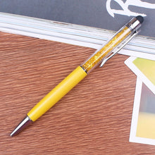 Load image into Gallery viewer, 23 Colors Crystal Ballpoint Pen Fashion Creative Stylus Touch Pen for Writing Stationery Office & School Pen Ballpen ink Black